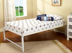 Kings Brand Furniture White Metal Twin Size Platform Bed Fra