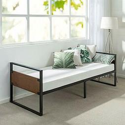Zinus 30 inch Wide Ironline Daybed Frame with Mattress Set