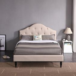 DeCoro Winterhaven Upholstered Platform Bed | Headboard and