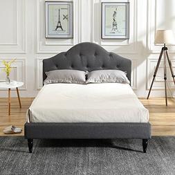 Classic Brands DeCoro Winterhaven Upholstered Platform Bed |