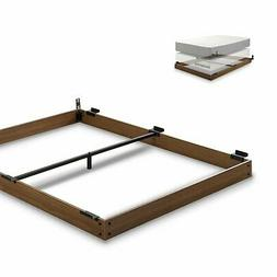 Zinus 5 Inch Wood Bed Frame for Box Spring & Mattress Set, K