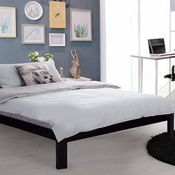 Wood Bed Frame Platform Mattress Foundation Smartbase with E