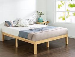 wood platform bed boxspring needed