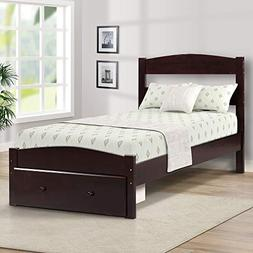 wood platform twin bed frame
