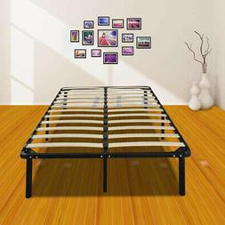 Wooden Bed Slat and Metal Iron Stand Queen Size Iron Bed Fra