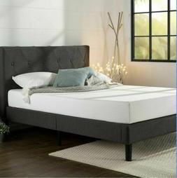 ZINUS Shalini Upholstered Platform Bed Frame, dark grey, ful